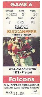 Atlanta Falcons vs. Tampa Bay Buccaneers Gameday ticket BuccaneersFan