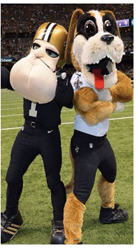 New Orleans Saints Mascot and Opponent of the Tampa Bay Buccaneers Fan