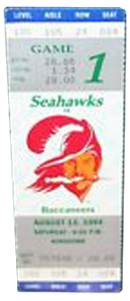 Seattle Seahawks vs. Tampa Bay Buccaneers Gameday ticket BuccaneersFan