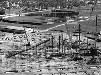 Tampa Stadium construction, Jan. 1967
