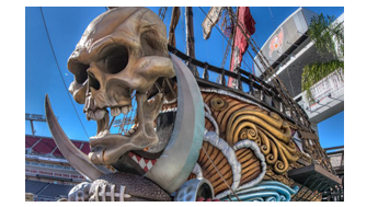 Skull & Crossed Swords In Buccaneer Bay
