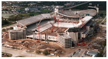 Construction of Raymond James Stadium