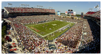 Sold out Raymond James Stadium for USF Game