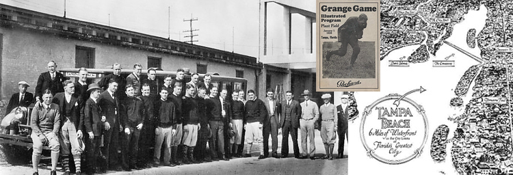 Red Grange and his Chicago Bears Tampa Beach December 30, 1925