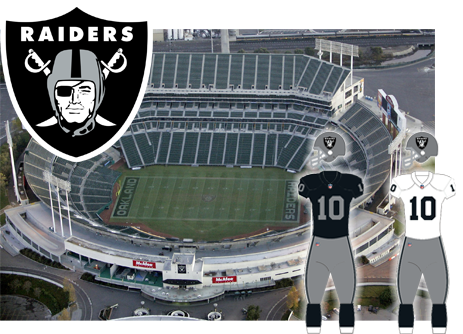 Oakland Raiders, Formerly Los Angeles Raiders opponent of the Tampa Bay Buccaneers